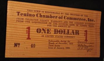 Зачем в США выпускали деревянные доллары?
